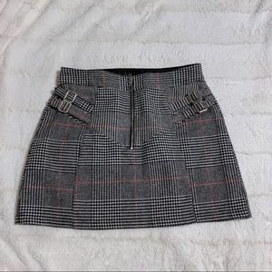 Topshop Houndstooth Skirt